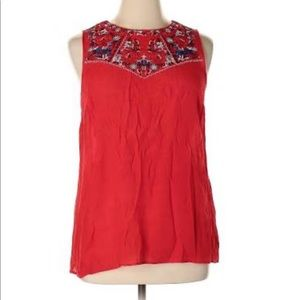 Alyx Tops - Sleeveless blouse red solid size s